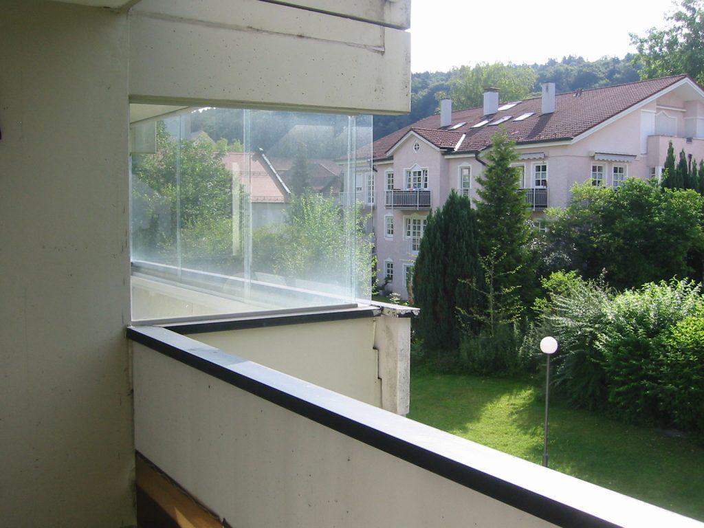verglaster Balkon